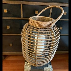 Roost Woodacre Lantern with Glass Hurricane